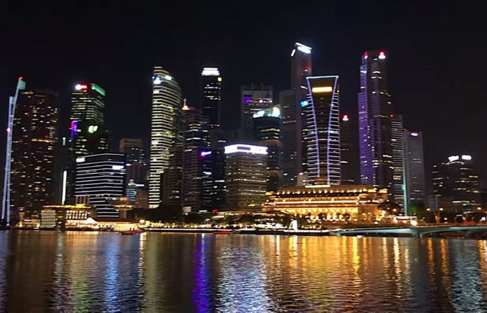 image result for singapore at night