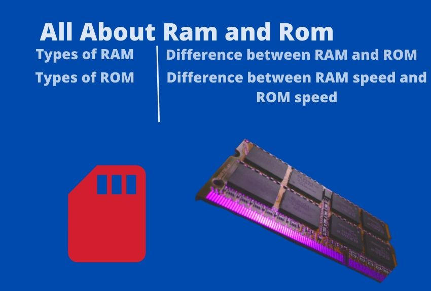RAM and ROM Works, Types, Difference
